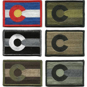 BuckUp Tactical Morale Patch Hook Colorado Denver State Patches 3x2""