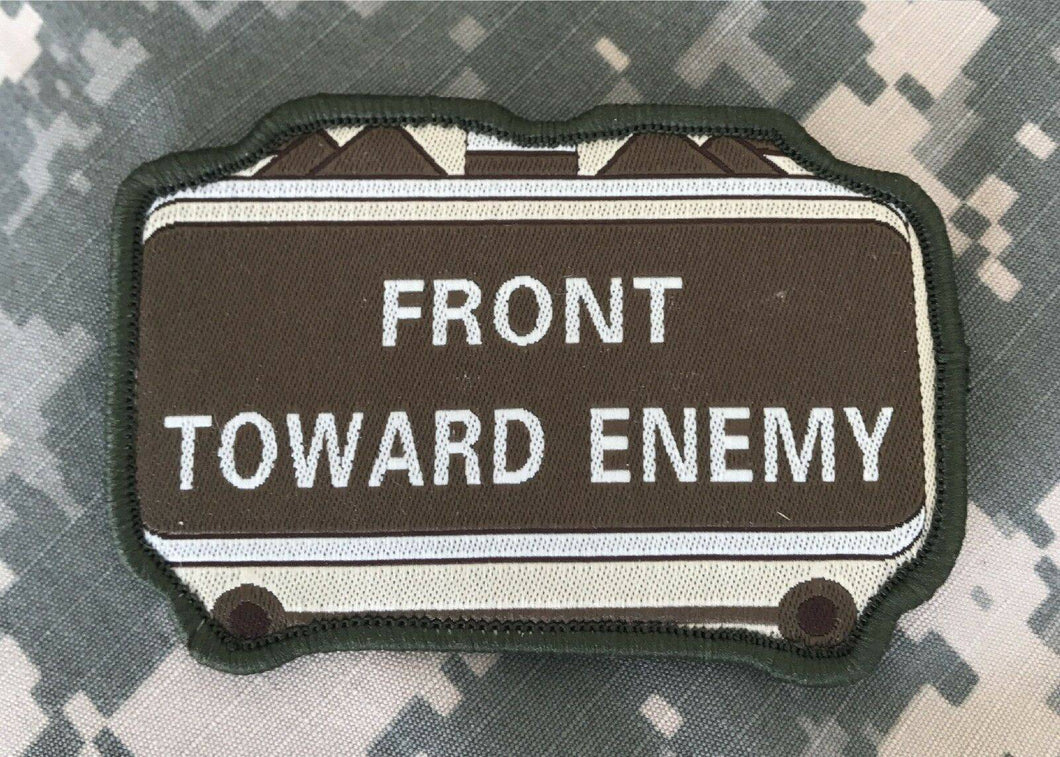 BuckUp Tactical Morale Patch Hook Front Towards Enemy Brown Green Patches 3.5