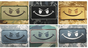BuckUp Tactical Morale Patch Hook Smiley Face Patches 3.25x1.75""