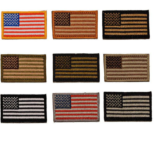 BuckUp Tactical Morale Patch Hook MINI USA US Flag Forward Facing Patches 2x1
