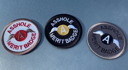 BuckUp Tactical Morale Patch Hook Asshole Merit Badge 2.5