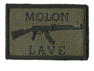 BuckUp Tactical Morale Patch Hook AK-47 Molon Labe Lave Patches 3x2""