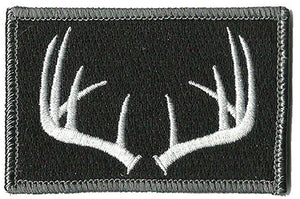 BuckUp Tactical Morale Patch Hook Antlers Deer Wildlife Hunter Hunt Patches 3x2""
