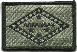 BuckUp Tactical Morale Patch Hook Arkansas Little Rock State Patches 3x2""