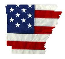 State of Arkansas Realistic American Flag Window Decal - Various Sizes