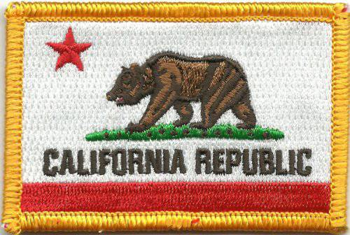 BuckUp Tactical Morale Patch Hook California Sacramento State Patches 3x2