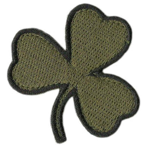 BuckUp Tactical Morale Patch Hook Die Cut Clover Patches 2""