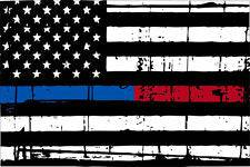 Thin Blue Red line decal - State of Colorado tattered Flag Decal - Various Sizes