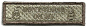 BuckUp Tactical Morale Patch Hook Gadsden Don't Tread on Me DTOM Patches 3.75x1""