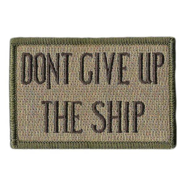 BuckUp Tactical Morale Patch Hook Dont Give Up The Ship 3x2