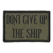 BuckUp Tactical Morale Patch Hook Dont Give Up The Ship 3x2""