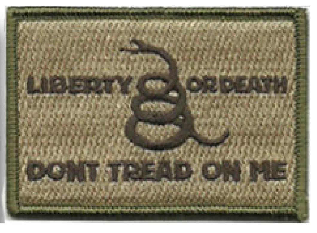 BuckUp Tactical Morale Patch Hook Gadsden Liberty Or Death DTOM Patches 3x2