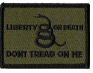 BuckUp Tactical Morale Patch Hook Gadsden Liberty Or Death DTOM Patches 3x2""
