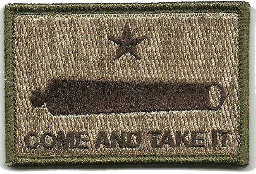 BuckUp Tactical Morale Patch Hook Gonzales Come & Take it Cannon Patches 3x2