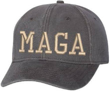 Make America Great Again MAGA Charcoal Black Distressed Adjustab Trump Hat