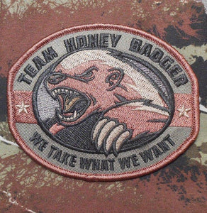BuckUp Tactical Morale Patch Hook Honey Badger Patches 3.25""