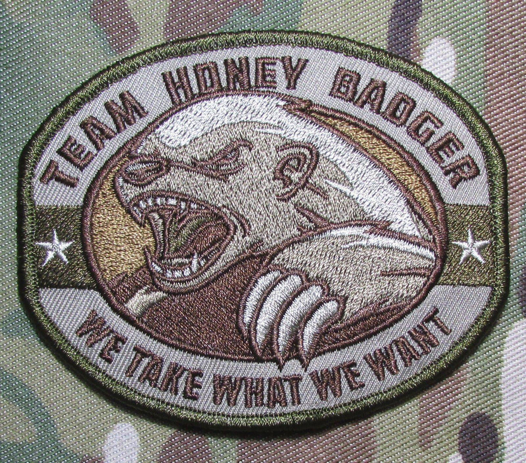BuckUp Tactical Morale Patch Hook Honey Badger Patches 3.25