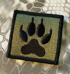 K9 K-9 PAW WOLF TRACKER Velcro Morale Tactical Patches 2""
