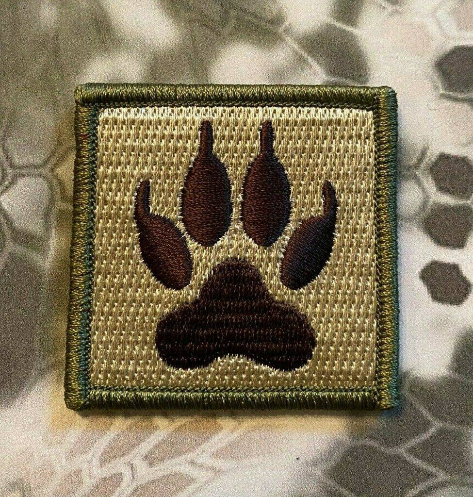 K9 K-9 PAW WOLF TRACKER Velcro Morale Tactical Patches 2