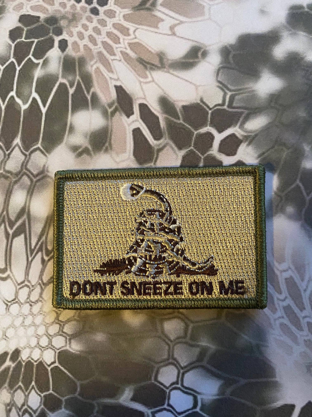 BuckUp Tactical Morale Patch Hook Dont Sneeze On Me Cornavirus Covid Face Mask n95 Patches 3x2