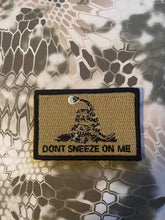 BuckUp Tactical Morale Patch Hook Dont Sneeze On Me Cornavirus Covid Face Mask n95 Patches 3x2""