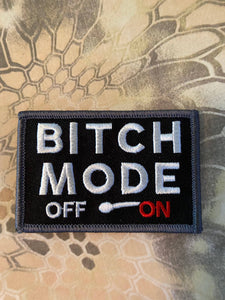 bitch mode on off meter funny morale 3x2""