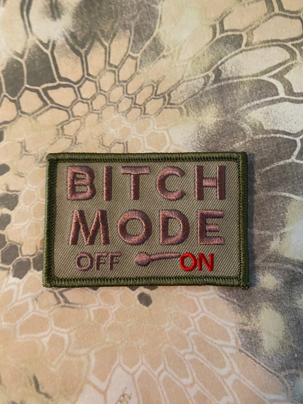 bitch mode on off meter funny morale 3x2