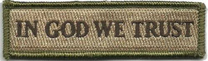 BuckUp Tactical Morale Patch Hook In God We Trust Morale Patches 3.75x1""