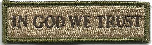 BuckUp Tactical Morale Patch Hook In God We Trust Morale Patches 3.75x1