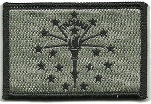 BuckUp Tactical Morale Patch Hook Indiana Indianapolis State Patches 3x2""