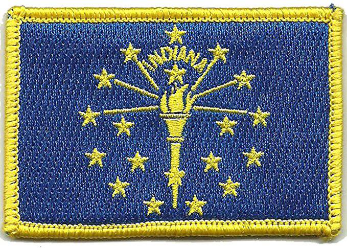 BuckUp Tactical Morale Patch Hook Indiana Indianapolis State Patches 3x2