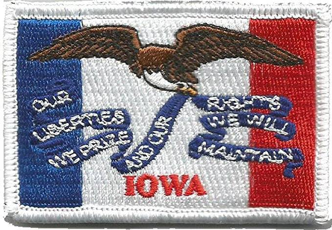 BuckUp Tactical Morale Patch Hook Iowa Des Moines State Patches 3x2