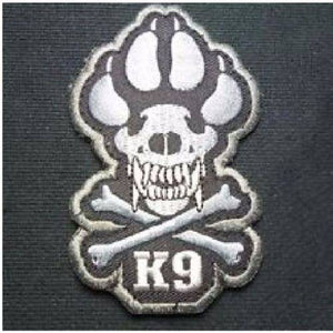 BuckUp Tactical Morale Patch Hook K9 Crossbones Patches 2.75""