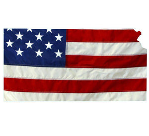 State of Kansas Realistic American Flag Window Decal - Various Sizes