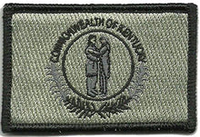 BuckUp Tactical Morale Patch Hook Kentucky Frankfort State Patches 3x2""