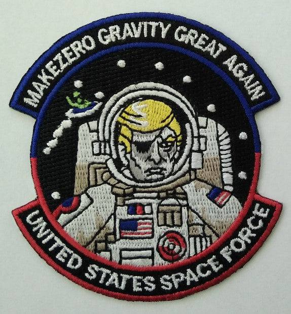 trump zero gravity space Force Funny Patches Morale Funny Patches 3x2