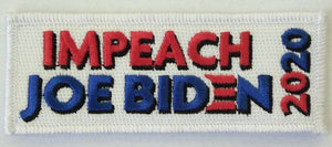 "IMPEACH JOE BIDEN 2020 4x2"" Hook Fastener patch"