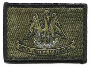 BuckUp Tactical Morale Patch Hook Louisiana Baton Rouge State Patches 3x2""