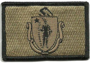 BuckUp Tactical Morale Patch Hook Massachusetts Boston State Patches 3x2""