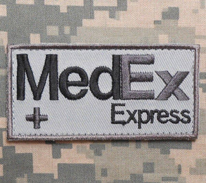 BuckUp Tactical Morale Patch Hook MedEx Express Patches 2.75""