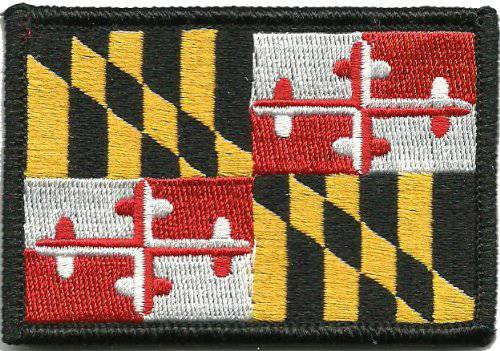 BuckUp Tactical Morale Patch Hook Maryland Annapolis State Patches 3x2