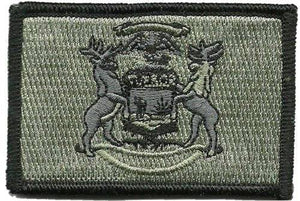 BuckUp Tactical Morale Patch Hook Michigan Lansing State Patches 3x2""