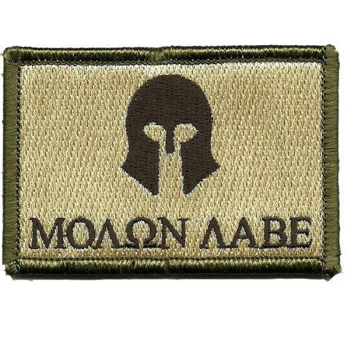 BuckUp Tactical Morale Patch Hook Molon Labe  Patches 2x3