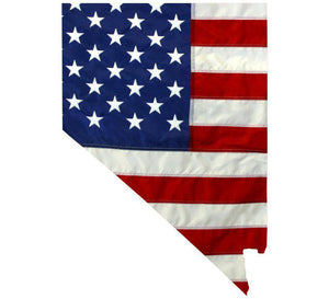 State of Nevada Realistic American Flag Window Decal - Various Sizes