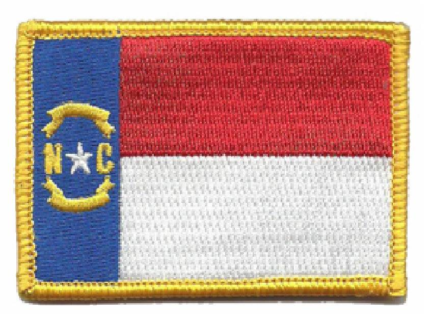 BuckUp Tactical Morale Patch Hook North Carolina Raleigh State Patches 3x2