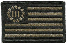 BuckUp Tactical Morale Patch Hook USA 3% Percenter Three Percenter Patches 3x2""