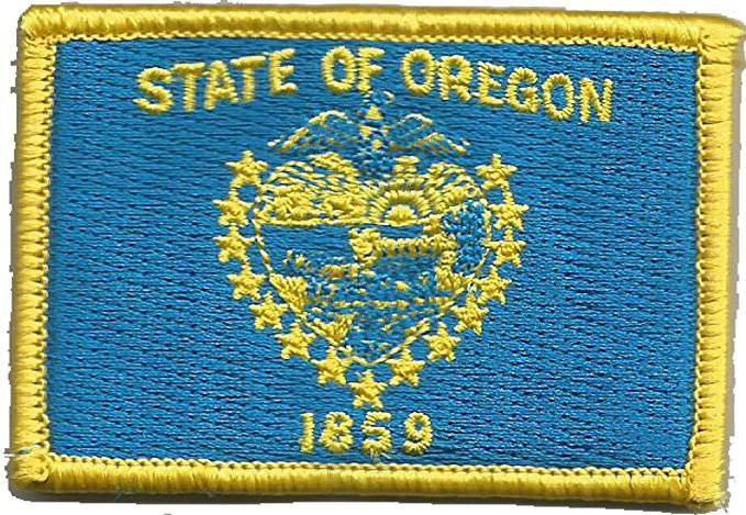 BuckUp Tactical Morale Patch Hook Oregon Salem State Patches 3x2