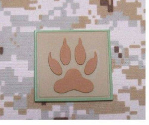 BuckUp Tactical Morale Patch Hook PVC K9 Paw K-9 PD Cop Dog Handeler Patches 2""