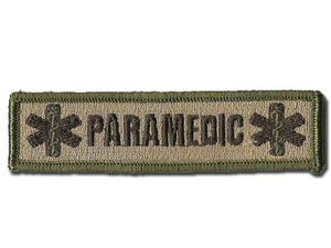 BuckUp Tactical Morale Patch Hook Paramedic EMT Patches 3x1""