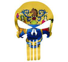 Punisher Skull New Jersey Flag Window Decal Sticker Graphic - Multiple Sizes